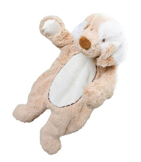 Douglas Plush Tan Puppy Dog Sslumpie Blankie Buddy