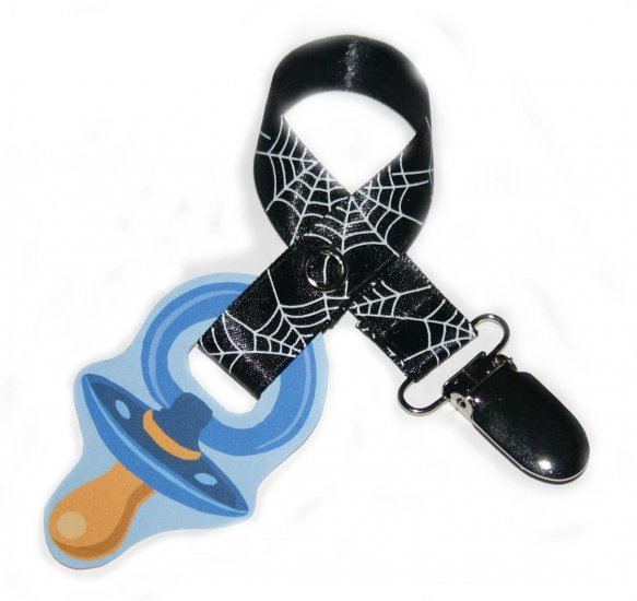 Snigglefritz Halloween Spunk Ribbon Paci Clip - Clip with STYLE! - FREE SHIP!