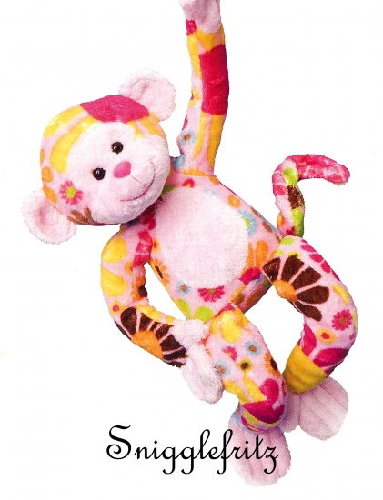 Douglas Hippie ZELDA Pink Flower Monkey - SO SOFT!!!