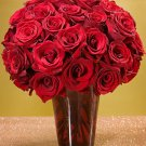Three Dozen Roses in Red Ruby Vase