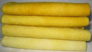 """Rug Hooking Wool """"Provence Mustard"""" 4p Fat Quarter Artisan Wools"""
