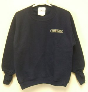 New HANDCUFFS Navy Blue CHILDREN'S SWEATSHIRT Small 4 Warm Hands!