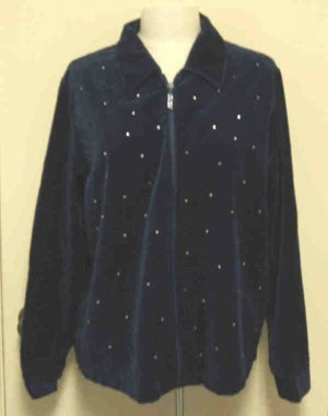 Quacker Factory Sparkle & Shine Jacket Sz Large L