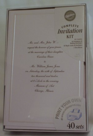 Wilton invitations printable kits keeping w tradition white for Www wiltonprint com templates