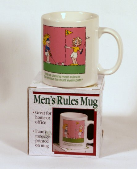 """Comical Ceramic """"Do we have to count"""" Golf Coffee Cup Mug"""