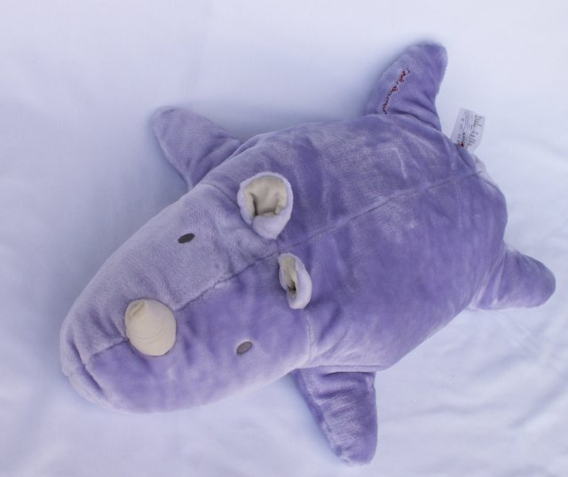 CARTERS JOHN LENNON LARGE PLUSH PURPLE RHINO Nursery Decor / Pillow / Toy EUC