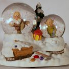 Disney Princess Snow White Musical Snowglobe Waterball 7 Dwarfs
