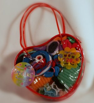 Red Play Purse with 120 Hair Accessories Toddler - New