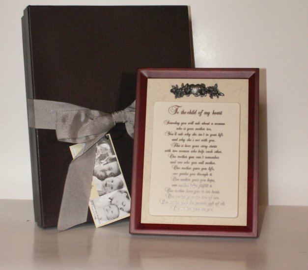 Adoptive Mother Plaque Frame Keepsake Gift  New in Box