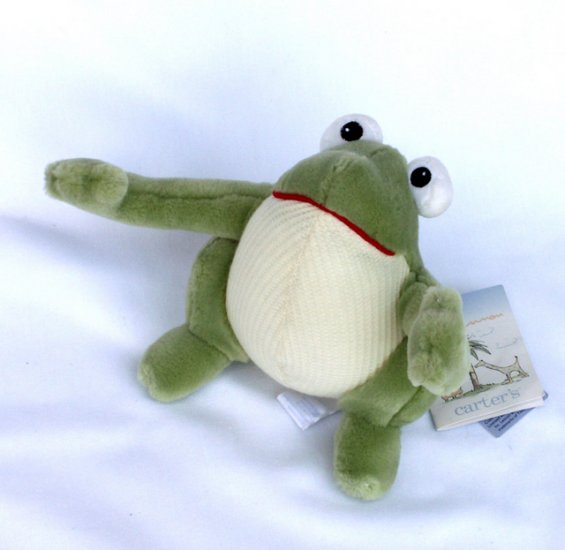 ... LENNON PLUSH GREEN SQUEAKER FROG Toy New with Tags Baby Nursery Decor