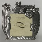 Noah's Ark Pewter Picture Photo Frame Baby Nursery Decor New