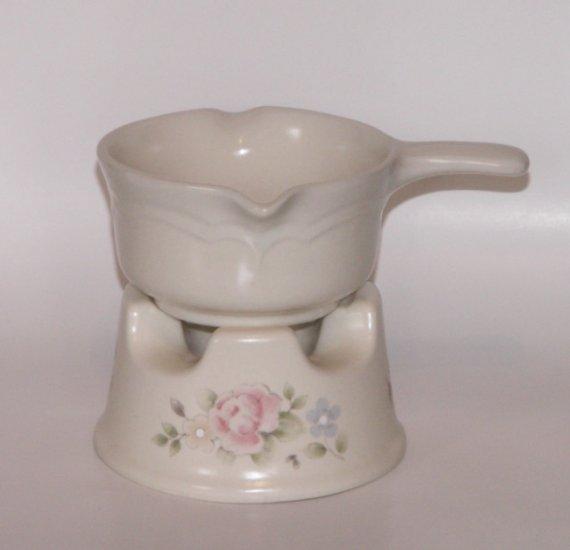 pfaltzgraff tea rose butter or potpourri warmer pink floral. Black Bedroom Furniture Sets. Home Design Ideas