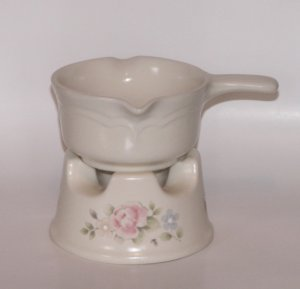 Pfaltzgraff Tea Rose Butter or Potpourri Warmer Pink Floral