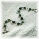 NOW 20% OFF: Green Rainforest Jasper Bracelet; made by Ms. J jewelry