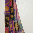 Shells & Chains Print Silky Long Scarf