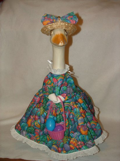Easter Dress Basket Eggs Lawn Goose Clothes Outfit