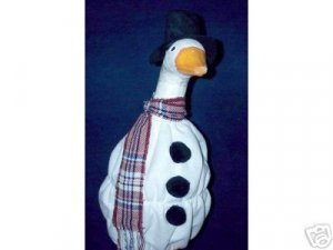 WINTER SNOWMAN Lawn Goose Clothes Outfit