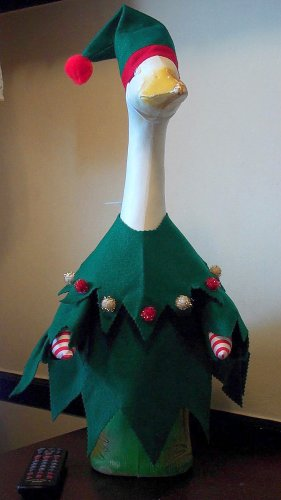 CHRISTMAS ELF Lawn Goose Clothes Outfit by Cindy