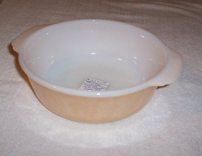 FIRE KING COPPER TINT CASSEROLE DISH