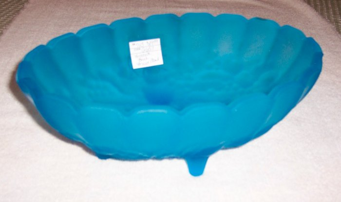 FROSTED BLUE FRUIT BOWL