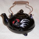 BLACK ROOSTER TEAPOT