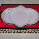 FIREKING MILKGLASS RELISH TRAY IN ORIGINAL BOX