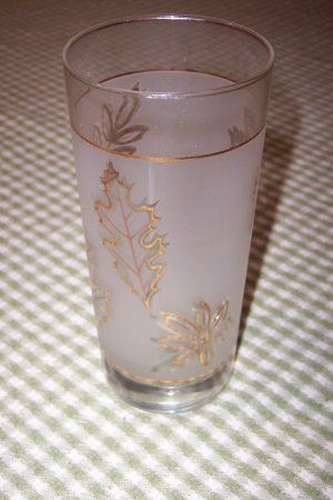 Libbey Gold Leaf Glass Tumbler (4)