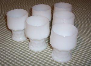 6 Milkglass Tumblers