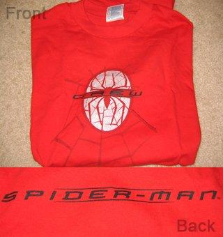Authentic Spider-man Movie Crew T-Shirt (L)