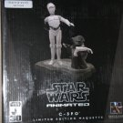 Star Wars Gentle Giant Black & White B&W C-3PO and Jawa Maquette