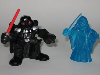 Galactic Heroes Darth Vader and Holographic Emperor Star Wars