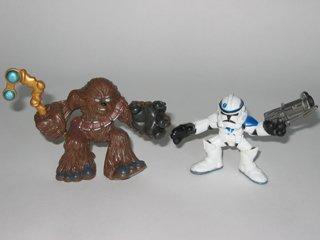 Galactic Heroes Chewbacca and Clone Trooper Star Wars