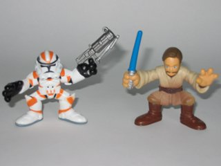Galactic Heroes Obi-Wan Kenobi and Utapau Clone Trooper Star Wars