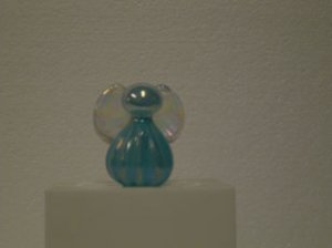Teal Glass Angel