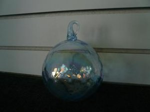 Blue Glass Ornament