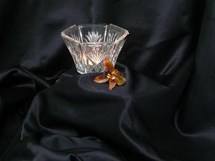 Clear Etched Octagonal Votive