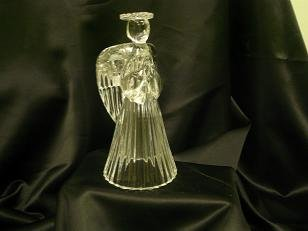 0003 lead Crystal Angel Candle Holder