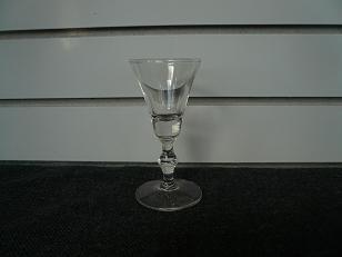 Clear Glass Bulbous Stem Glass