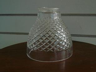 Glass Checker Pattern Lantern Cover