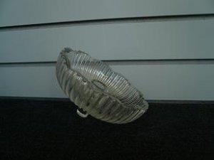Clear Glass Disc /w Ridges Lamp Cover