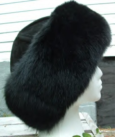Fox fur cuff hat 8125-brnbrn