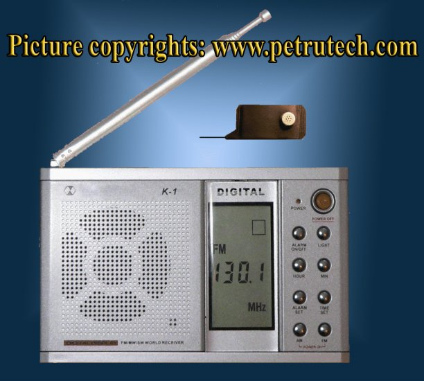 SURVEILLANCE SET VHF DIGITAL RECEIVER + THE MOST POWERFUL BUG SPY