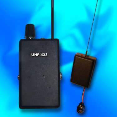 UHF VOX8 BUG SPY TRANSMITTER + DIGITAL UHF RECEIVER CRYSTAL CONTROLLED PLL SET!!!