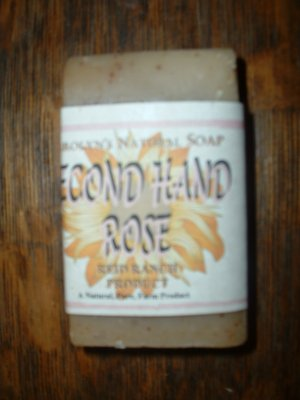 Carolyn's Natural Goat Milk Soap - Second Hand Rose 6 oz. bar