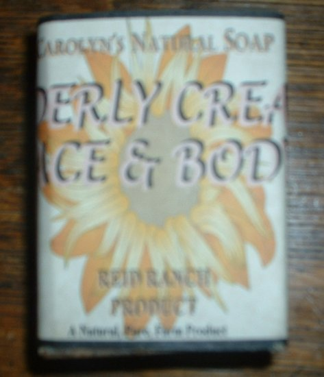 """Handmade Natural Milk Soap  """"Udderly Creamy Face & Body Soap"""" with Emu Oil"""