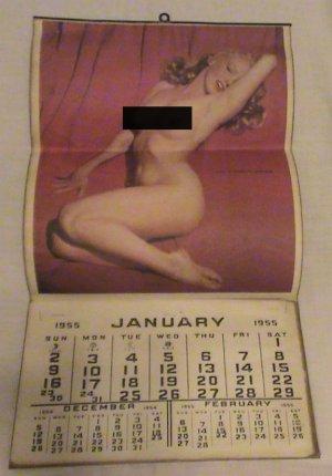 Marilyn Monroe 1955 calendar