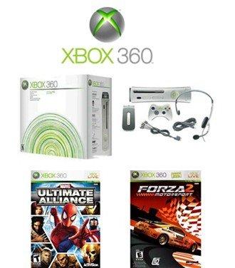 Reconditioned Xbox 360 Premium Console Bundle with 2 Fun Games