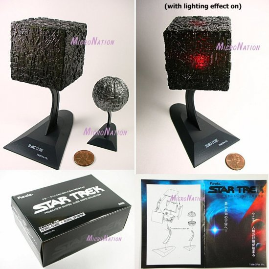 Furuta Star Trek Vol. 3 Special Premium item - a set of Borg Cube and Borg Sphere