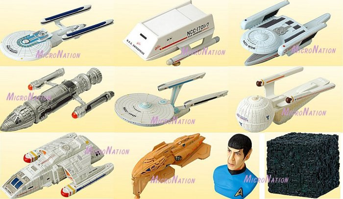 Furuta Star Trek Vol. 3 Alpha / Beta Miniature Space Ship Models Set of 10