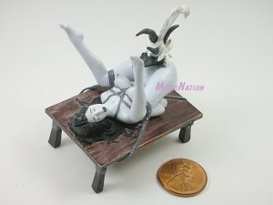 #BW06 Eropon Adult Figure Collection 2 Sexy SM Bondage Miniature Figure Black & White Version